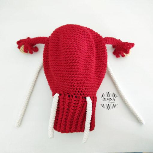 Útero con trompas y los ligamentos de ganchillo realizado y vendido por dimnadesigns.com