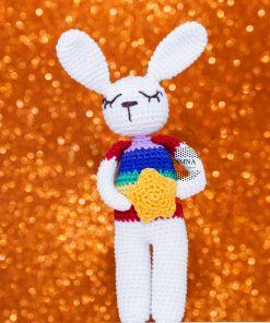 DimnaDesigns conejo ganchillo bebe arcoiris