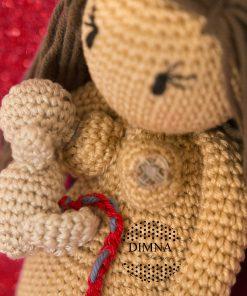 Muñeca parto, parto lotus y lactancia ganchillo Freya-DimnaDesigns