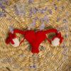 DimnaDesigns útero bicorne ganchillo
