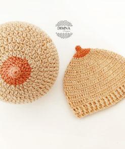 gorro teta tejido a crochet por dimnadesigns.com