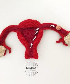 útero con todos los complementos realizado a ganchillo, a crochet por dimnadesigns.com