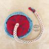 placenta tejida a crochet, Placenta tamaño estándar con cordón y red a modo de saco amniótico de dimnadesigns.com