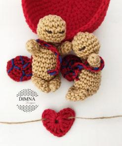 llavero-colgador bebés con dos bebés de dimnadesigns.com
